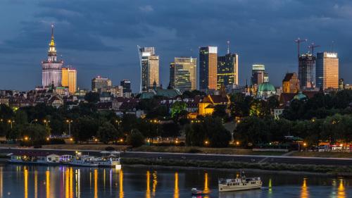Warsaw's panorama.